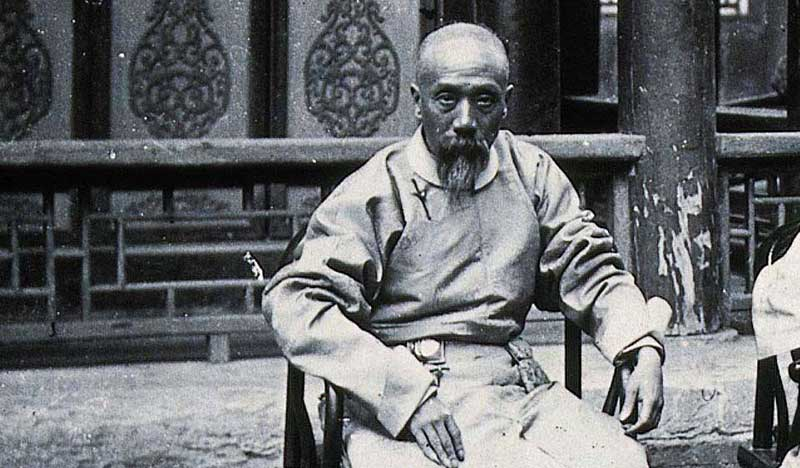 A photo of Yang Luchan (1799–1872), seated